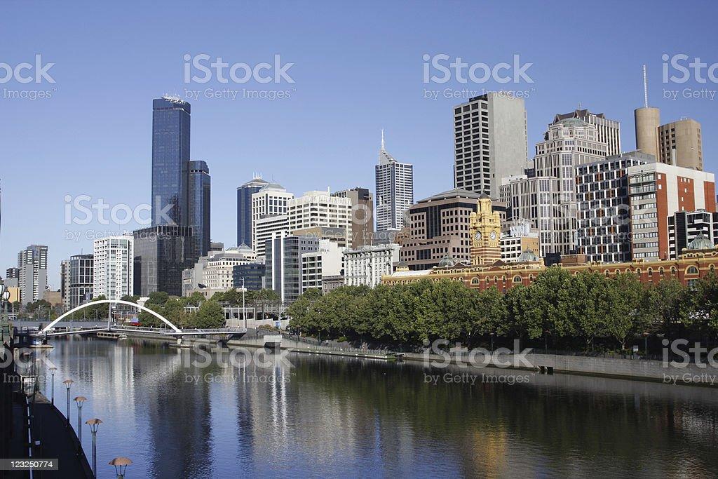 Yarra River in Melbourne, Victoria, Australia stock photo