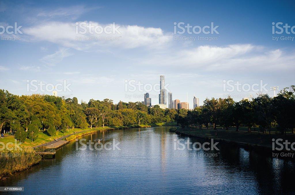 Yarra River, Melbourne stock photo