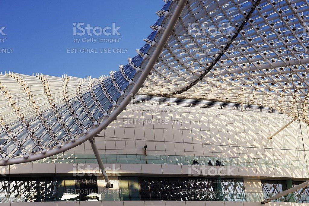 Yas Hotel the iconic symbol of Abu Dhabi's Grand Prix stock photo