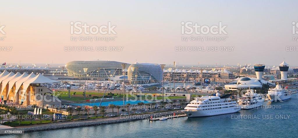 Yas Island Abu Dhabi stock photo