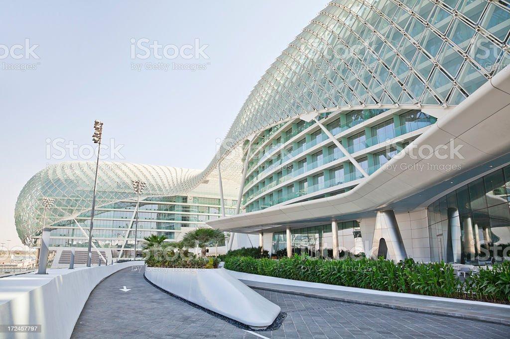 Yas Marina Island Abu Dhabi stock photo