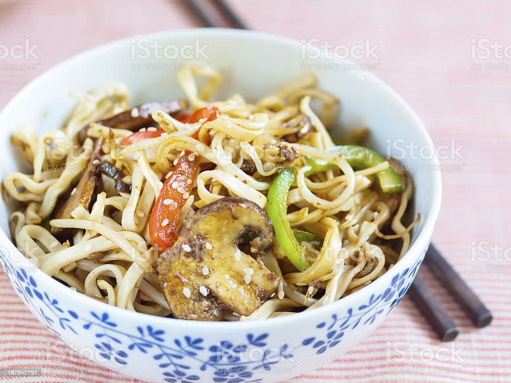 Yasai yaki noodles stock photo
