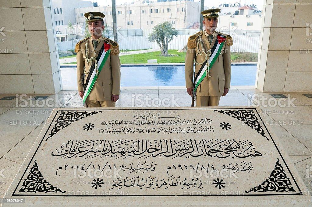 Yasser Arafat's Grave in Ramallah stock photo