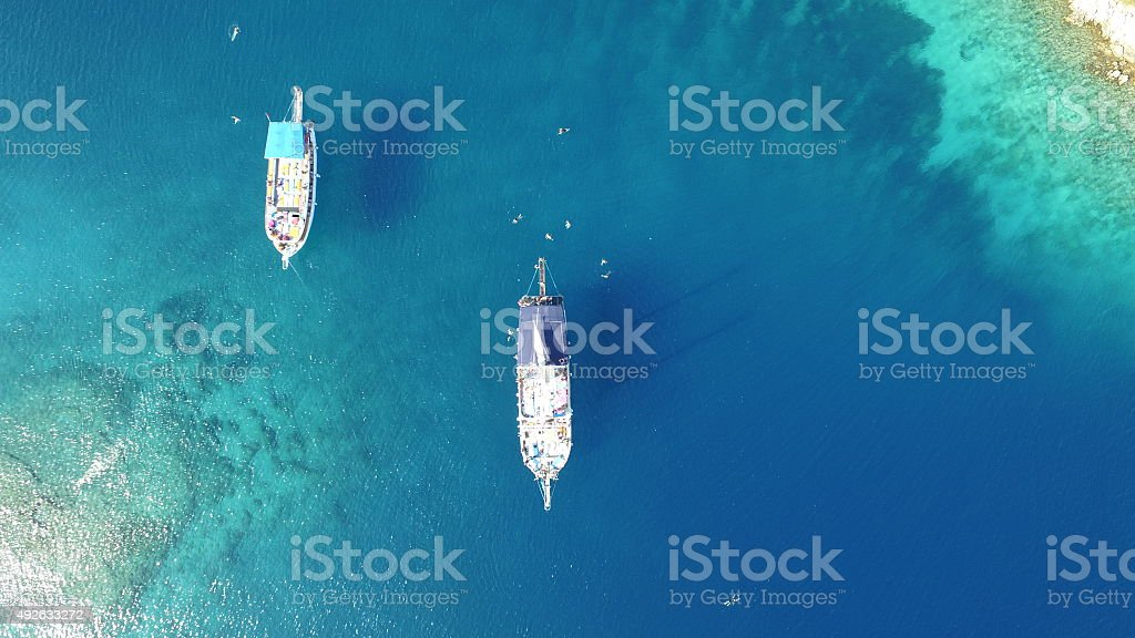 Yassica Island Turkish Mediterrenean stock photo