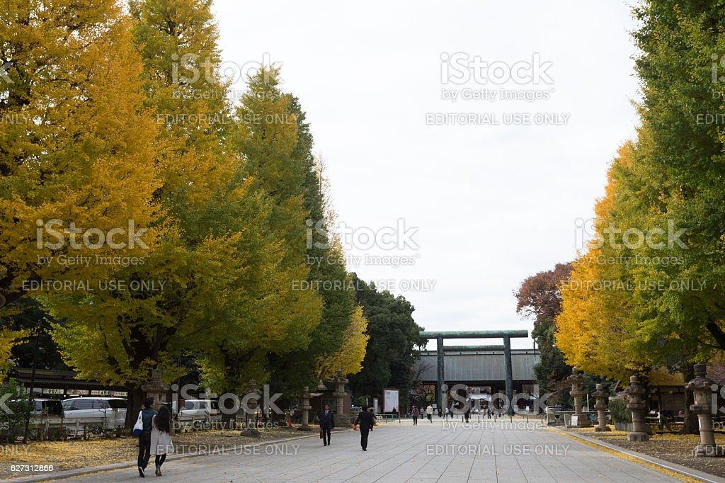 Yasukuni Shrine in Tokyo, Japan stock photo