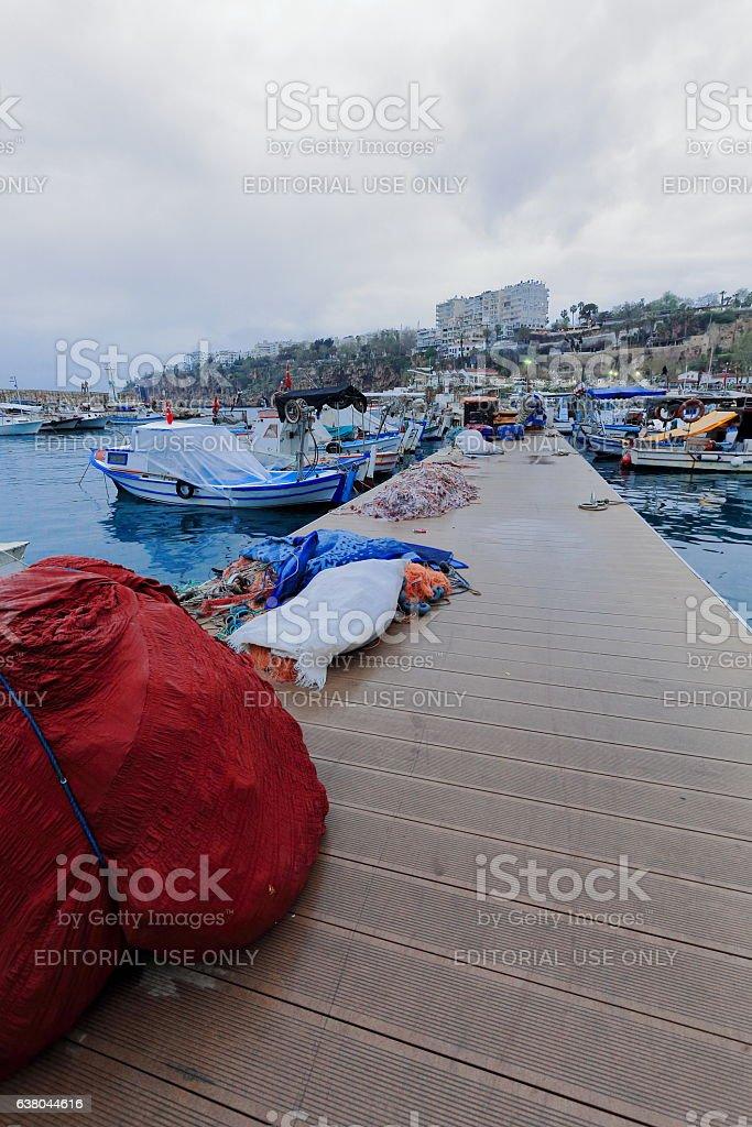 Yat Limani or Yacht harbour. Kaleiçi-Inner castle area-Antalya-Turkey. 0196 stock photo