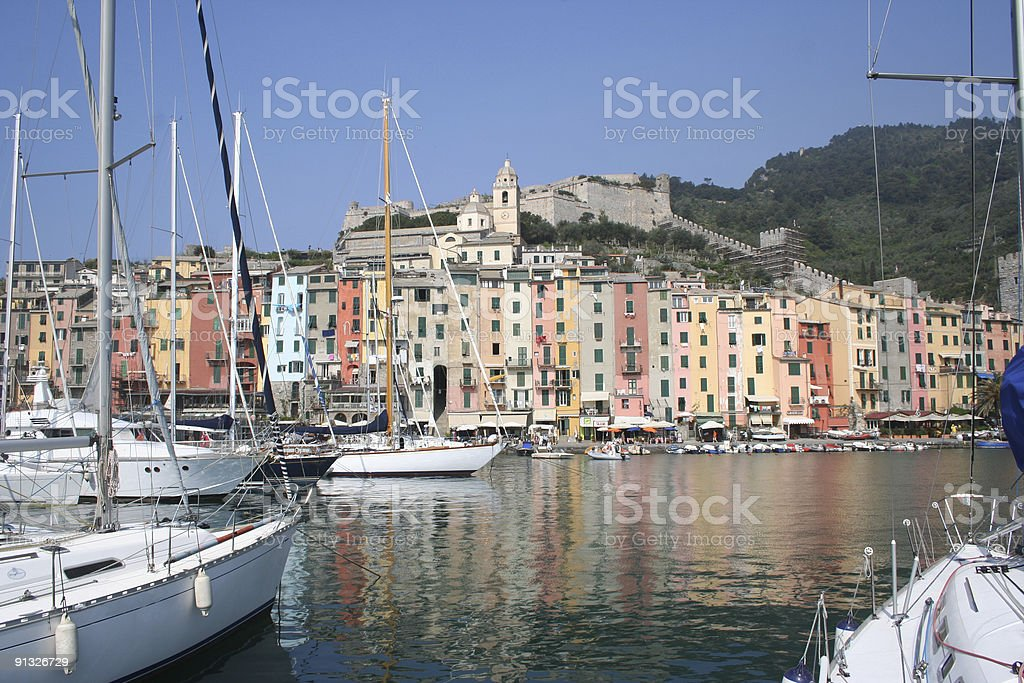 Yatch in Harbour stock photo
