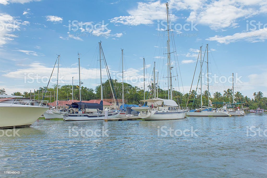 Yatch near the Seashore royalty-free stock photo