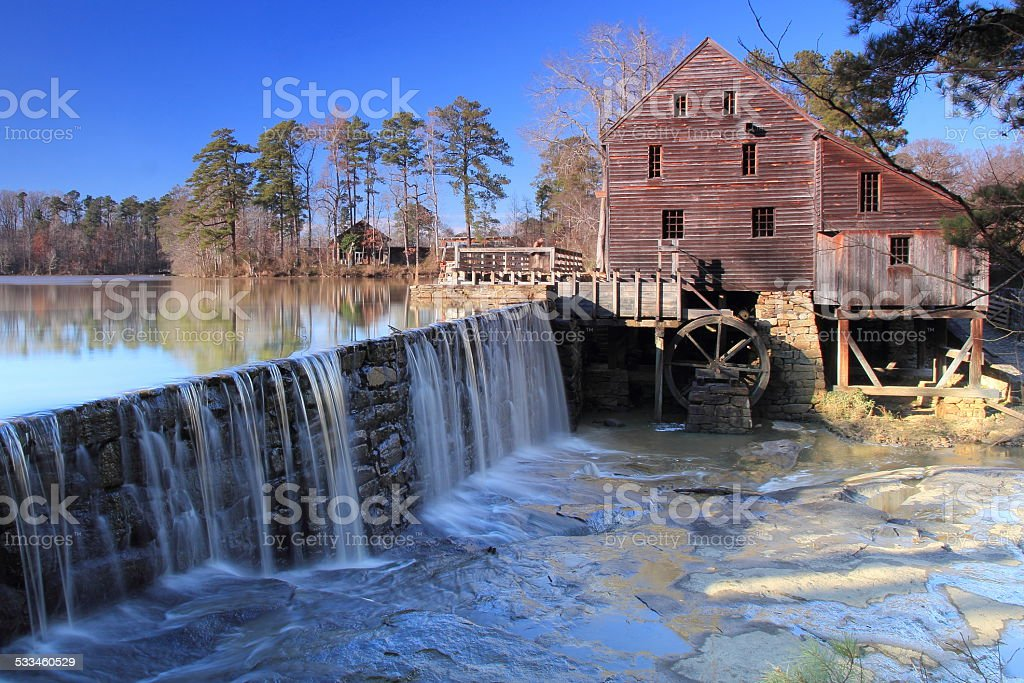Yates Mill Historic County Park, Raleigh, NC stock photo