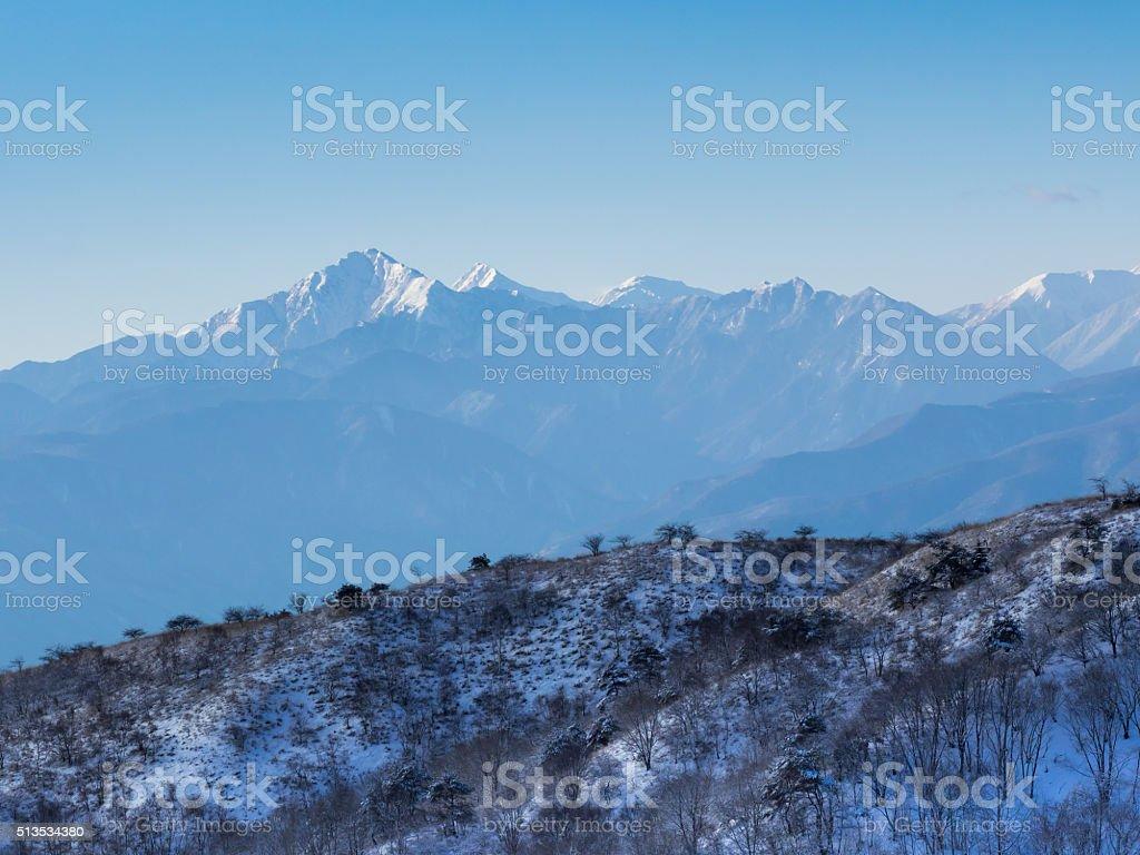 Yatsugatake mountain range stock photo