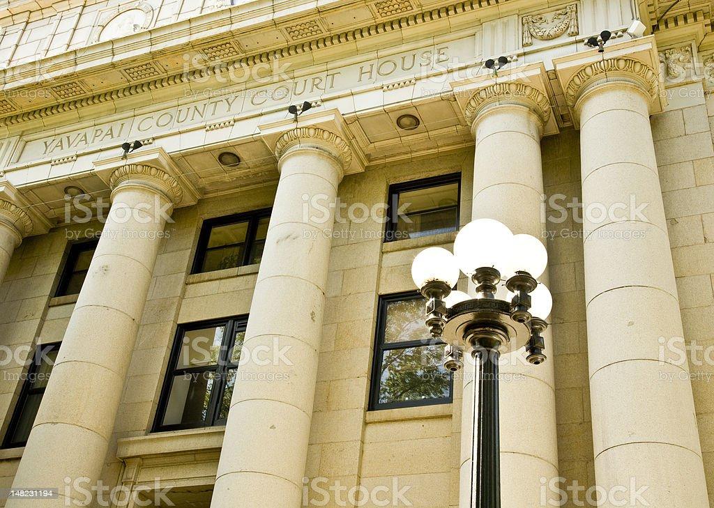 Yavapai County Courthouse royalty-free stock photo
