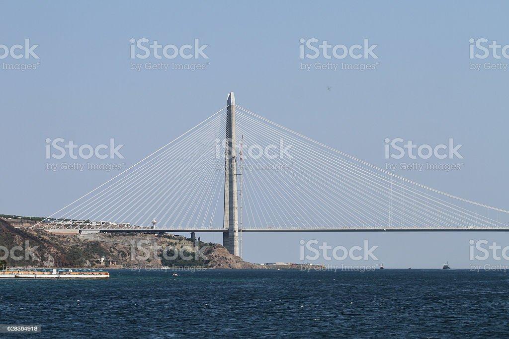 Yavuz Sultan Selim Bridge in Istanbul stock photo