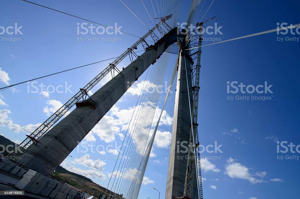Yavuz Sultan Selim Bridge, İstanbul stock photo