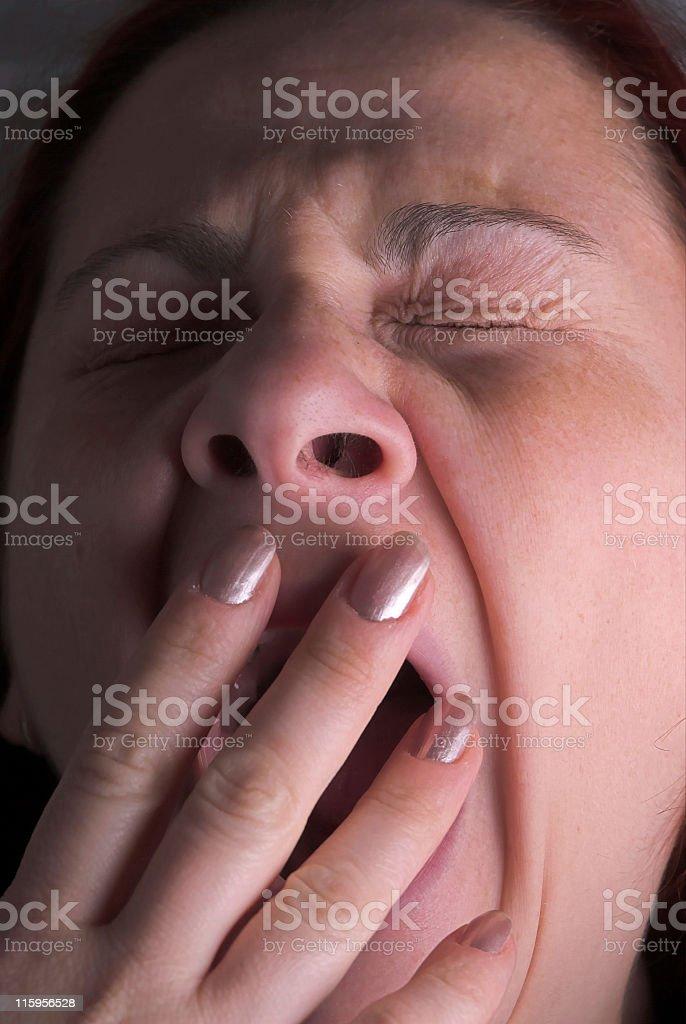 yawn royalty-free stock photo