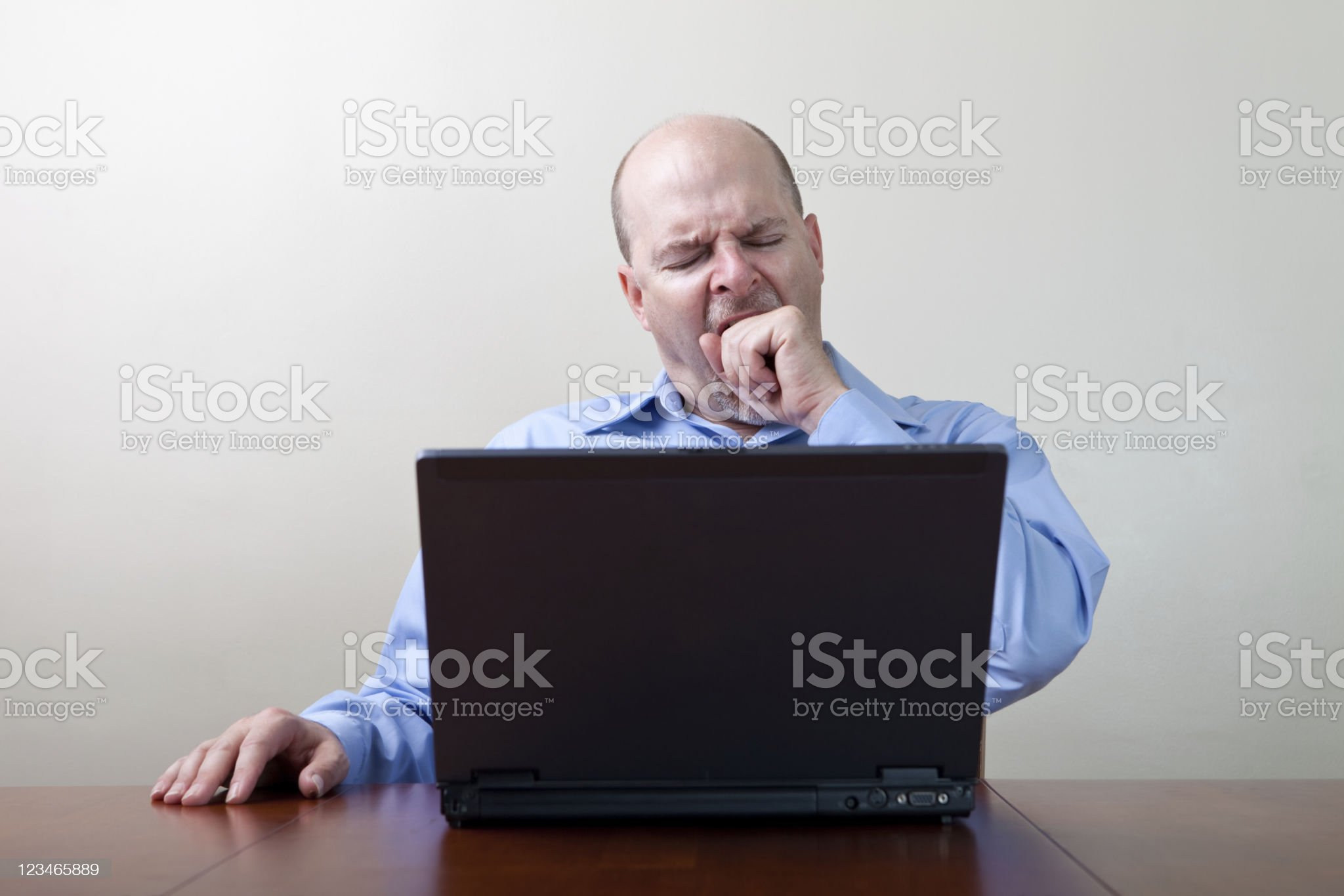 Yawning businessman royalty-free stock photo