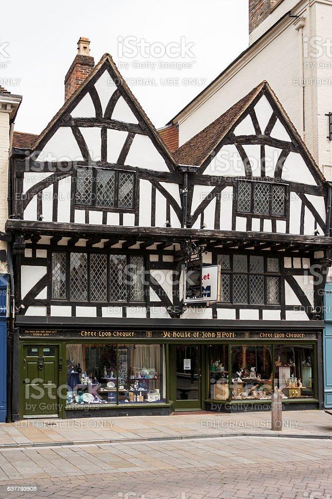 Ye House of John A'Port. Salisbury, Wilshire, England royalty-free stock photo
