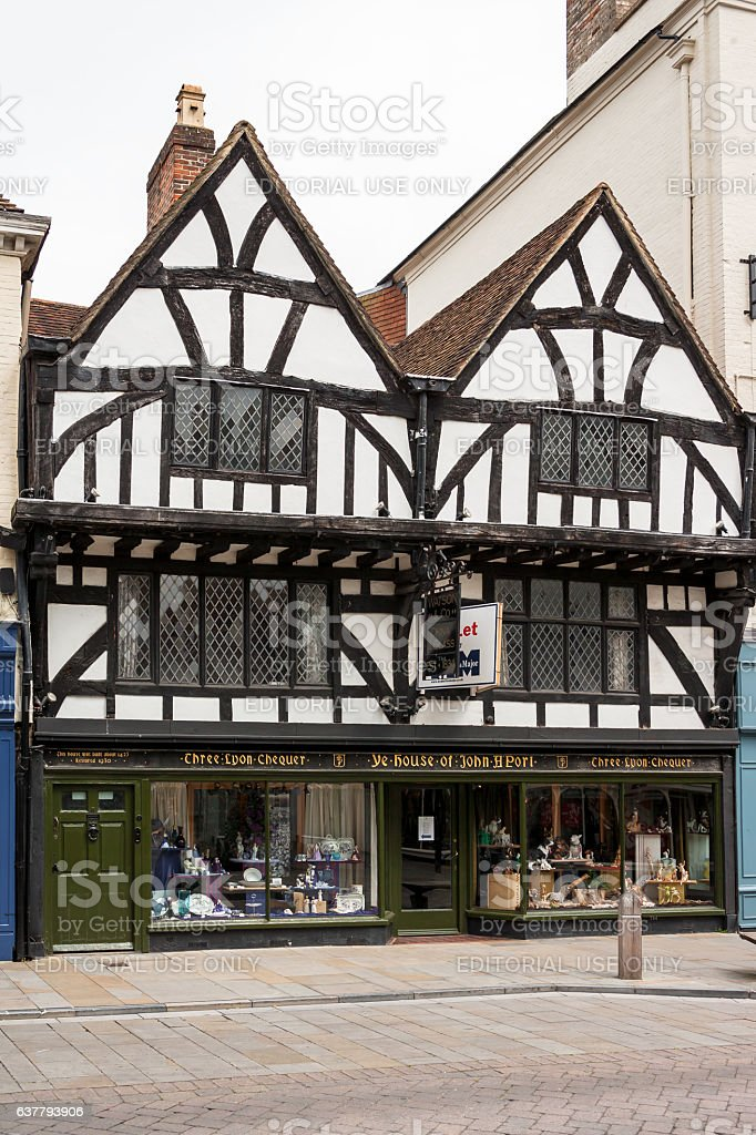 Ye House of John A'Port. Salisbury, Wilshire, England stock photo