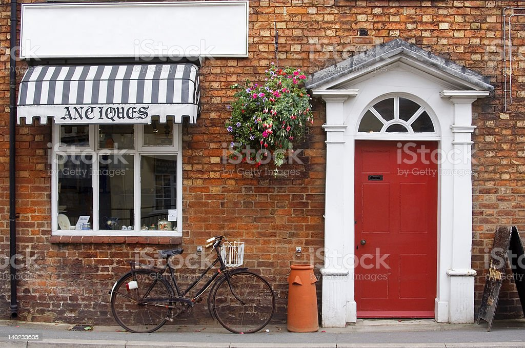 Ye Olde Antique Shop stock photo
