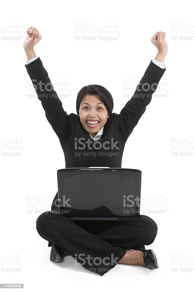 Yeah, I am success royalty-free stock photo