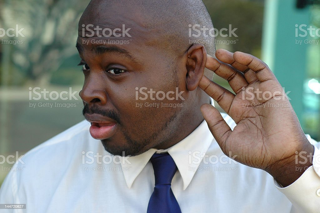 Yeah, I'm listening...NOT! stock photo