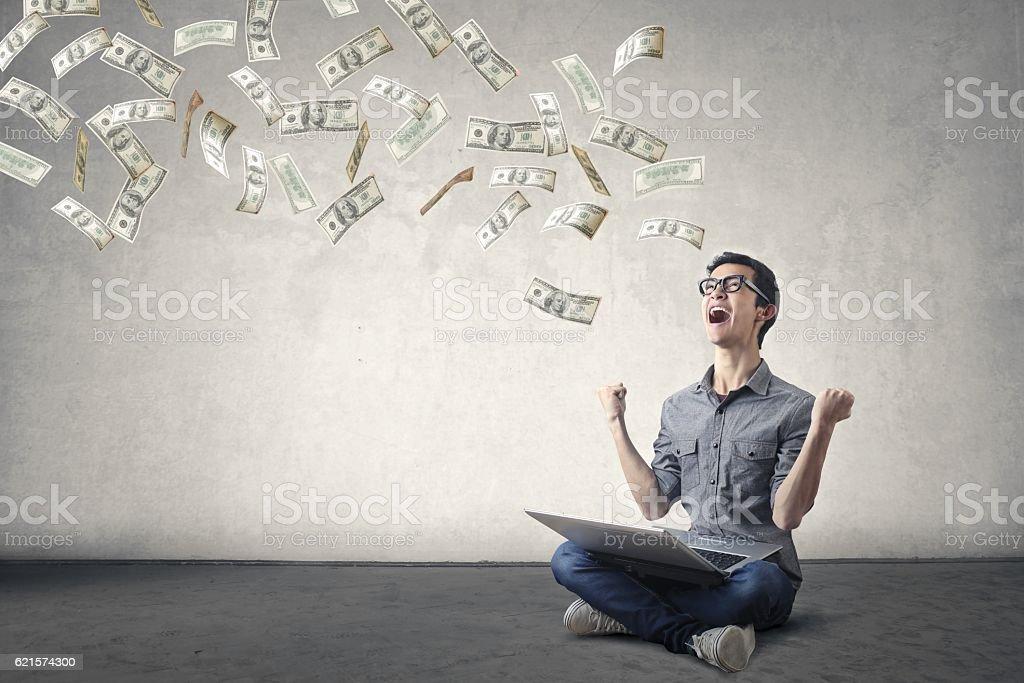 Yeah money! stock photo