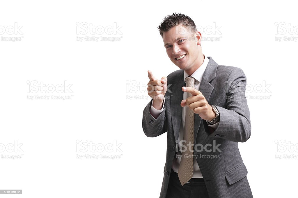 yeah! - young excited businessman royalty-free stock photo