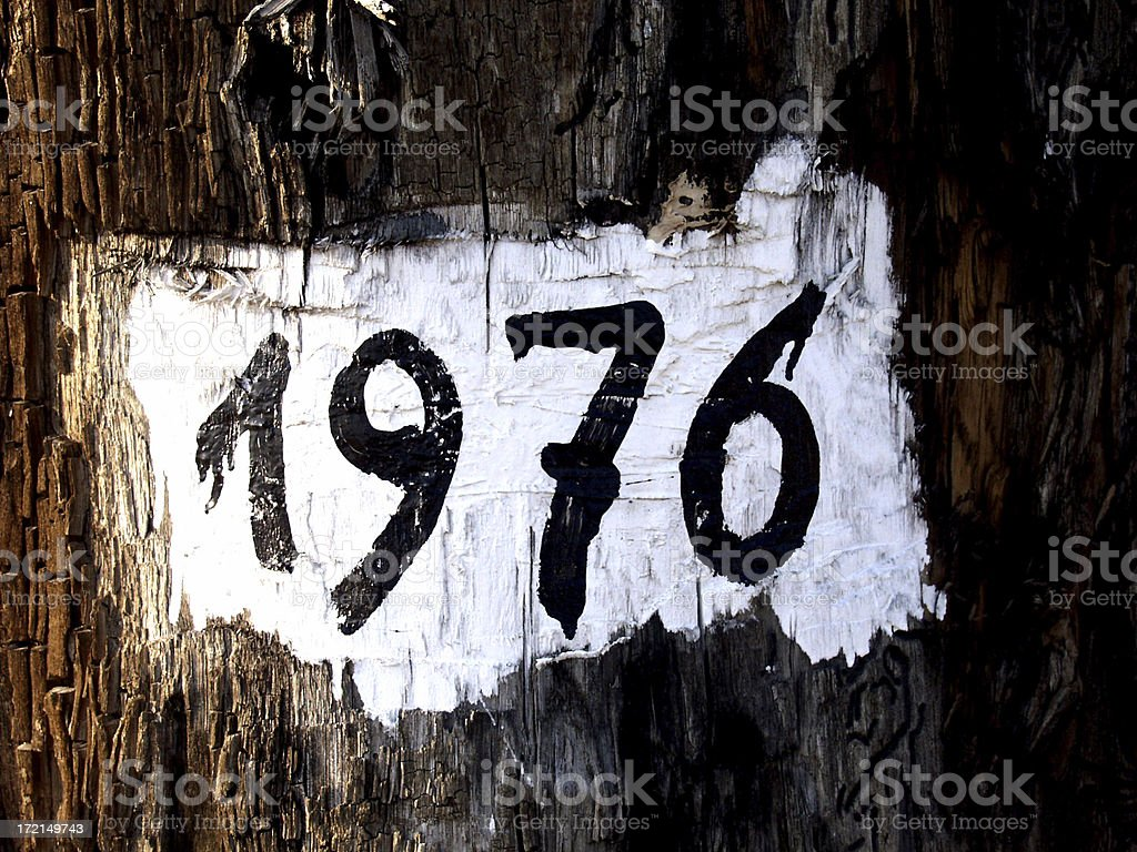 Anno 1976 royalty-free stock photo