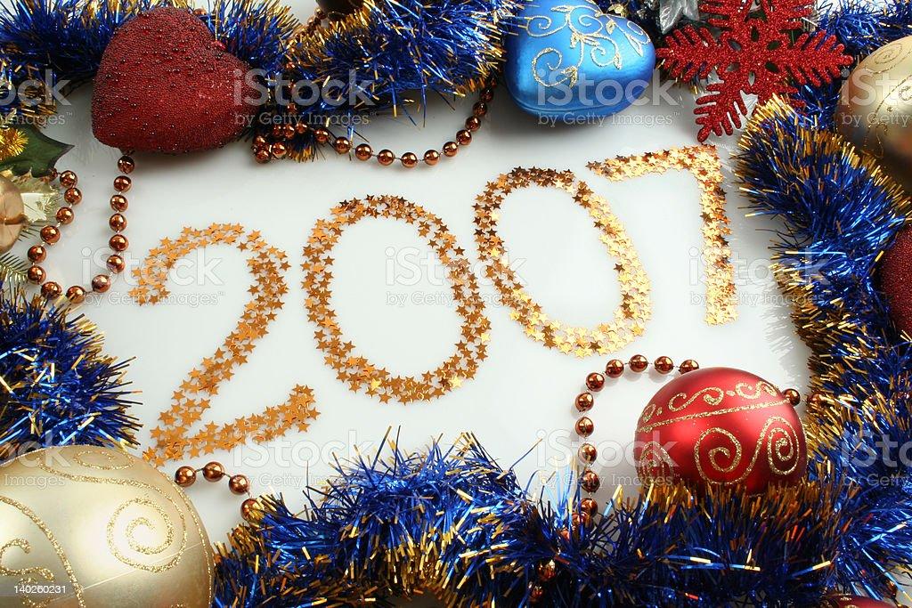Year 2007 royalty-free stock photo