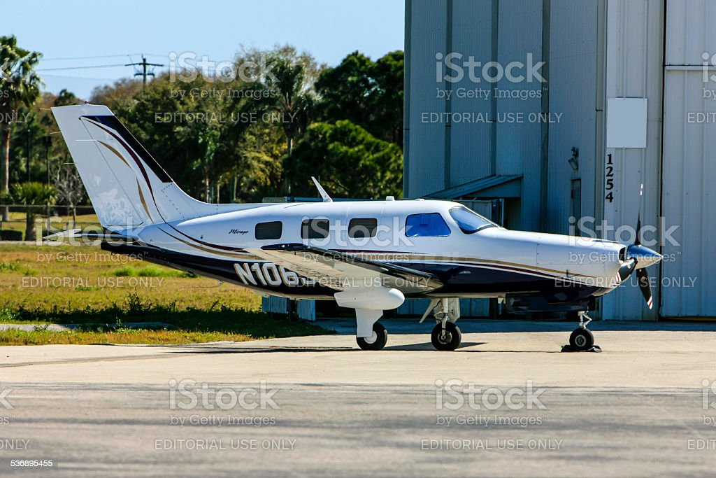 Year 2007 Piper PA-46 Mirage Plane stock photo