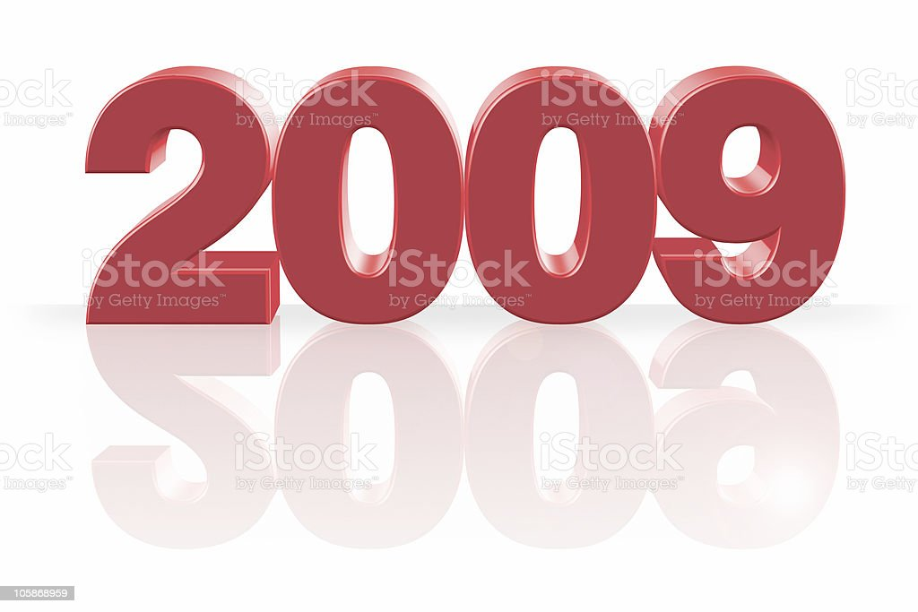 Year 2009 in 3D stock photo