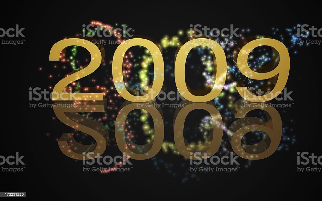 Year 2009 royalty-free stock photo