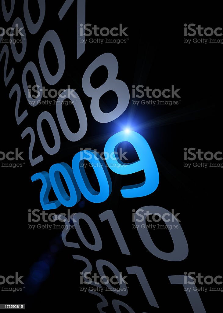 Year 2009 royalty-free stock photo