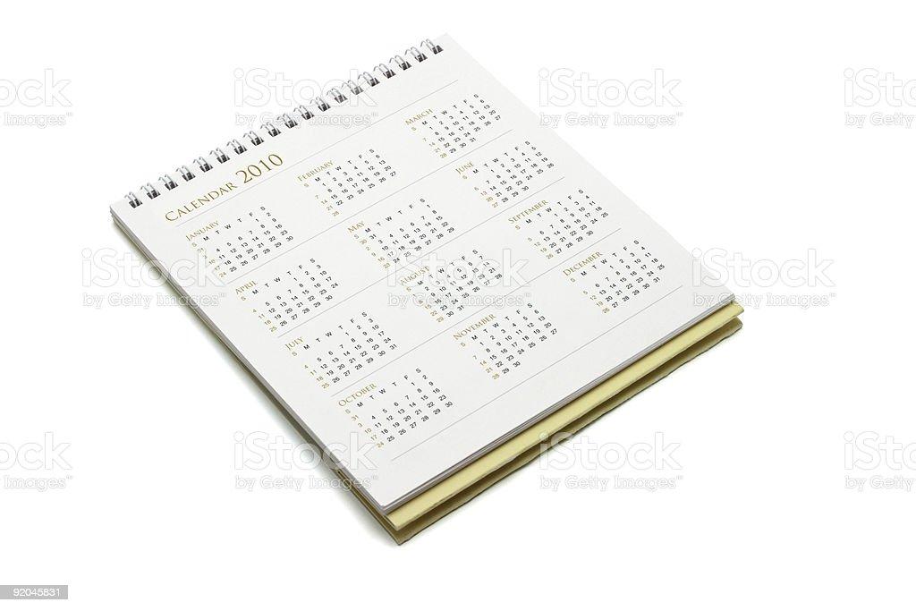 Year 2010 calendar royalty-free stock photo