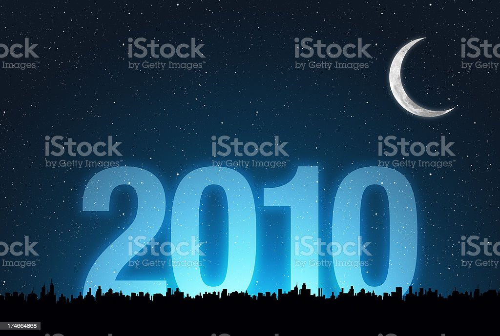 year 2010 royalty-free stock photo