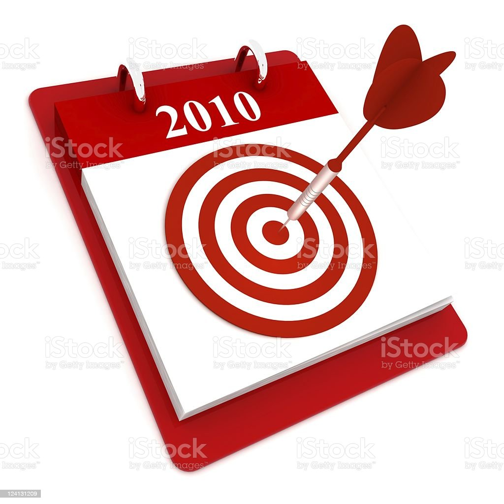 Year 2010 Planning royalty-free stock photo