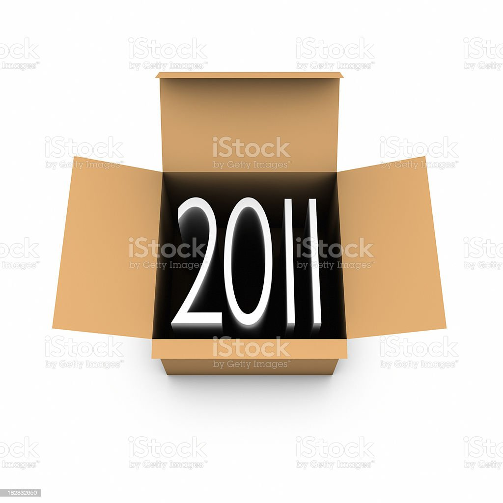 Year 2011 out of the box royalty-free stock photo