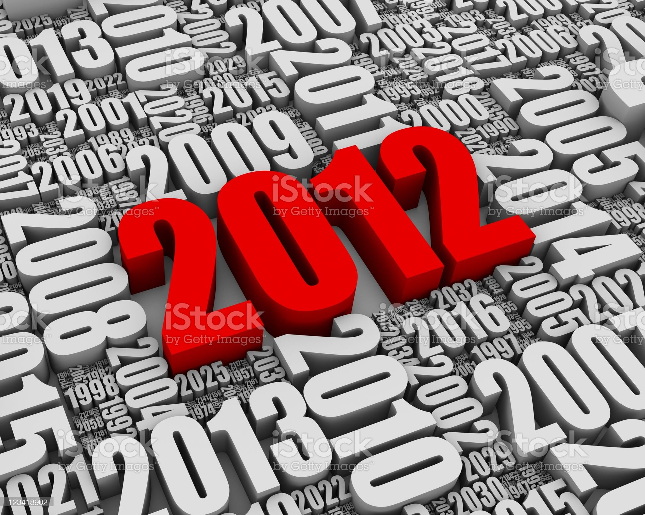 Year 2012 AD royalty-free stock vector art