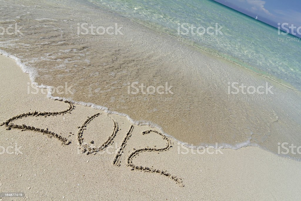 Year 2012 and the Atlantic ocean royalty-free stock photo