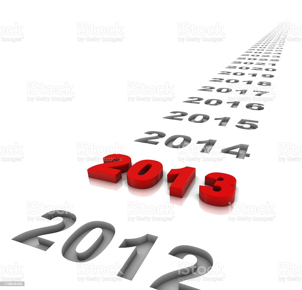 Year 2013 and the future royalty-free stock photo