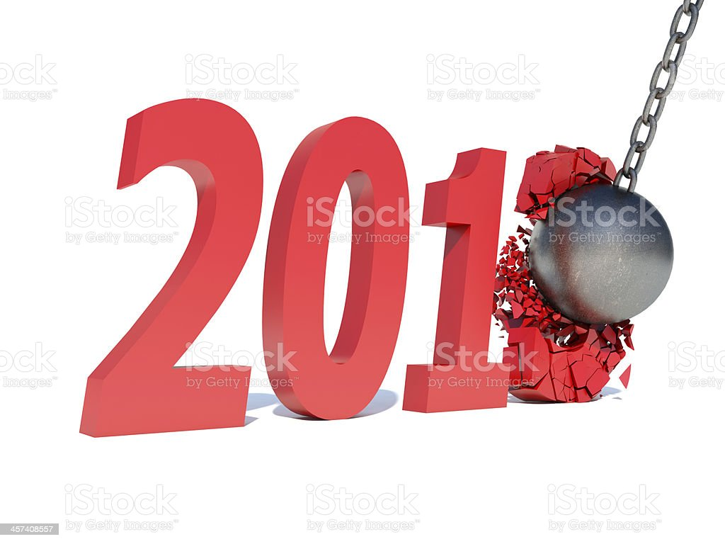 year 2013 changes to 2014 stock photo