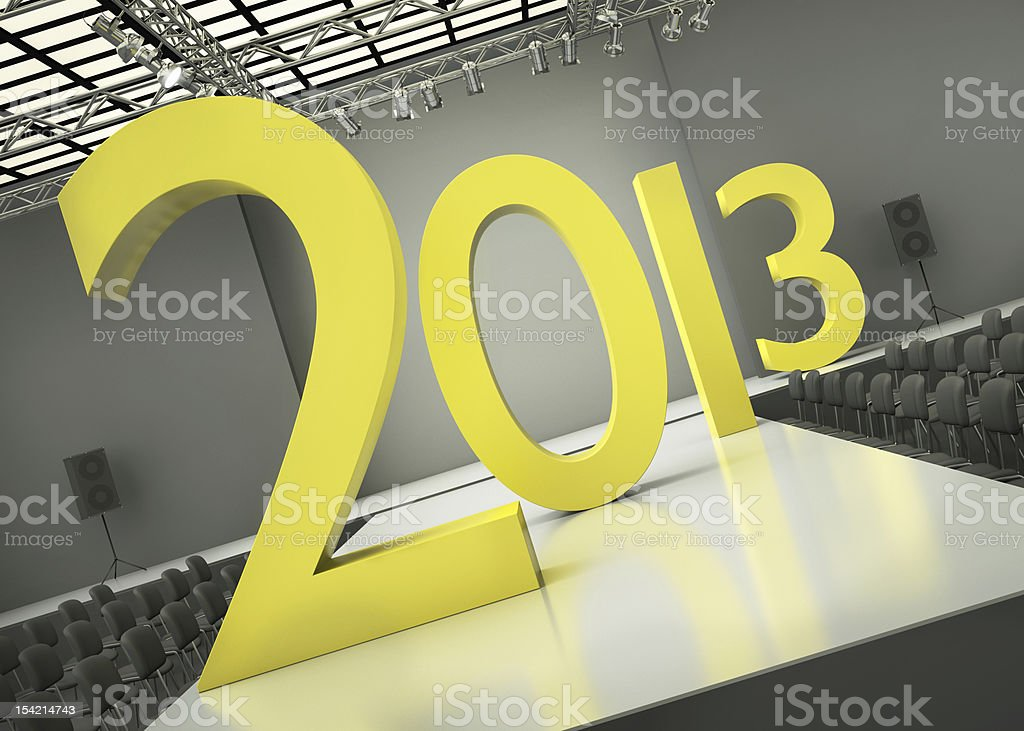 Year 2013 concept stock photo