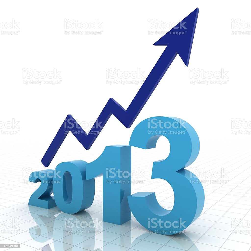 Year 2013 Growth Chart royalty-free stock photo