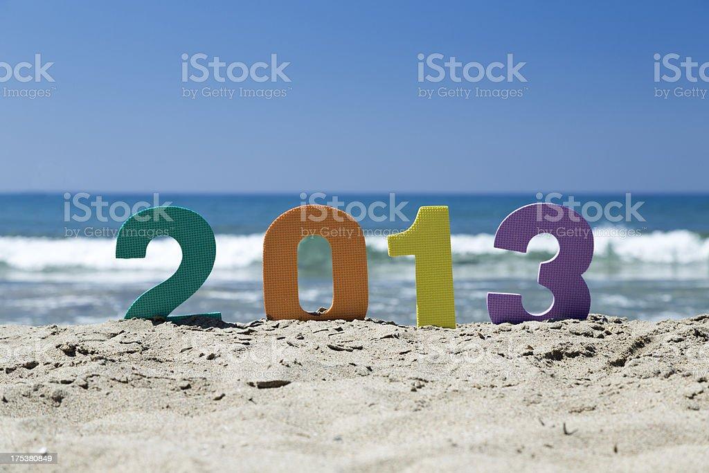 Year 2013 stock photo