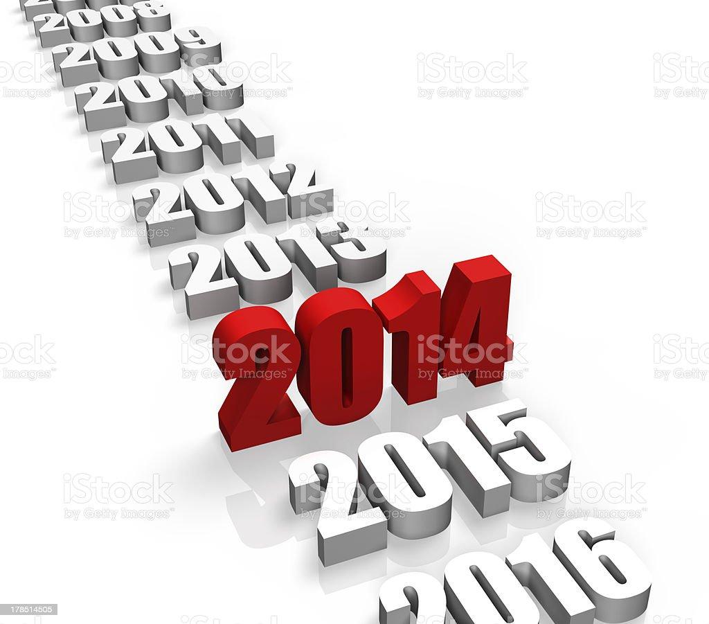 Year 2014 royalty-free stock photo
