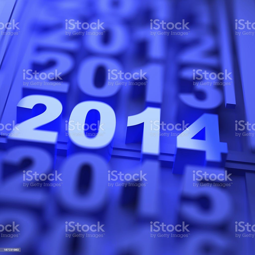 year 2014 royalty-free stock photo