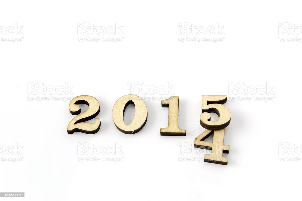 Year 2014 to 2015 royalty-free stock photo