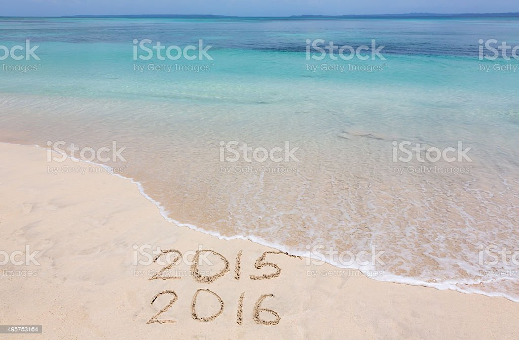 Year 2015 and 2016 stock photo