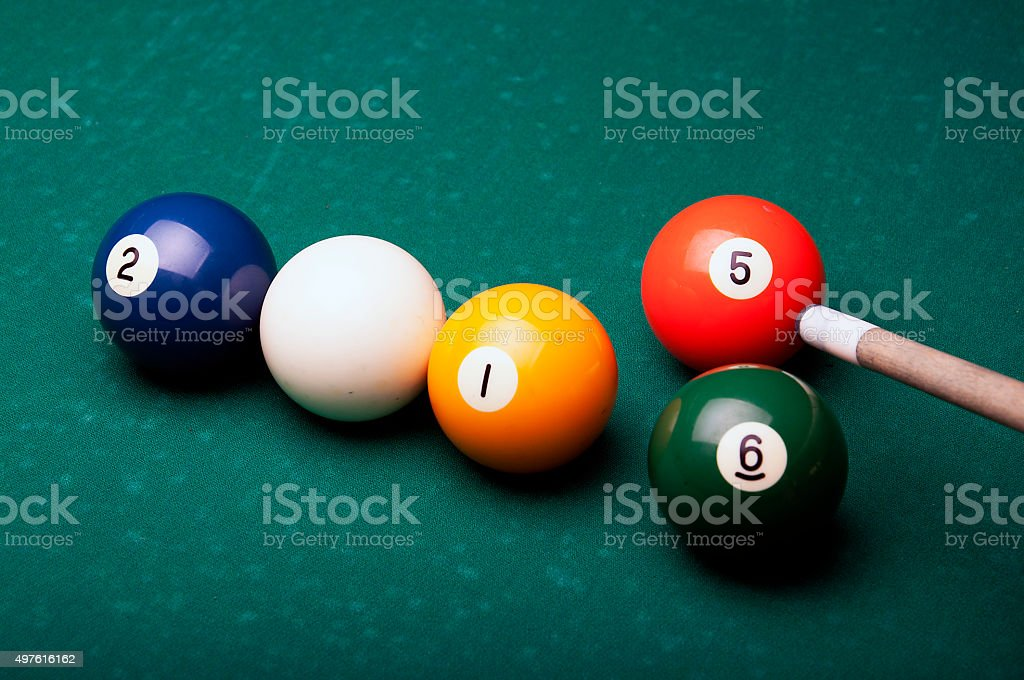 Year 2015 and 2016 with pool balls symbolizes stock photo