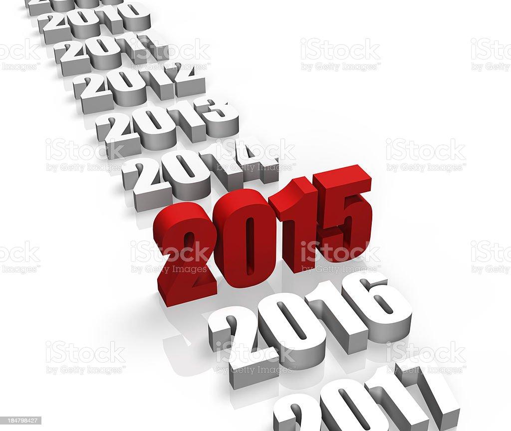 Year 2015 stock photo