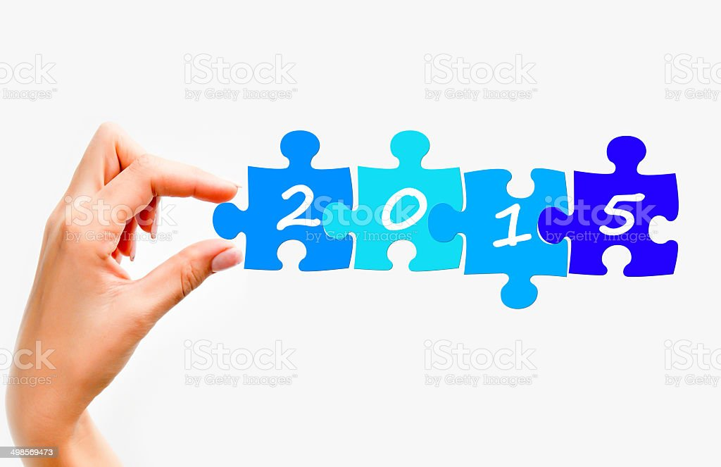 Year 2015 predictions stock photo